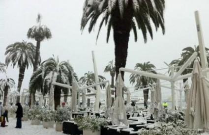 Splitska riva pod snijegom