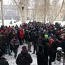 Prosvjed protiv ACTA unatoč snijegu
