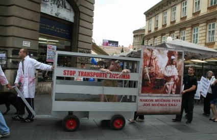 Prosvjedna povorka na Cvjetnom trgu