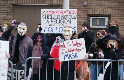 Annonymusi protestiraju protiv