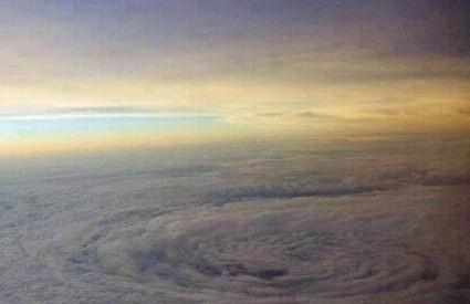 Oko tajfuna iznad Hong Konga