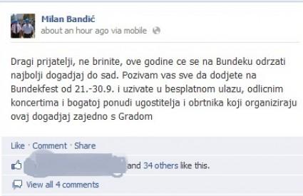 Bandić najavio svoj festival za naše novce