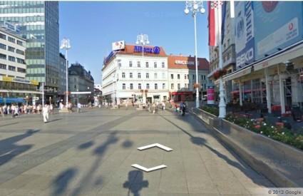 Trg bana Jelačića na Google Street View