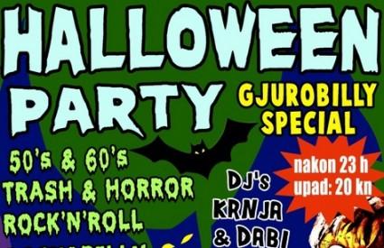 Retro garage trash psycho Halloween party u Gjuri
