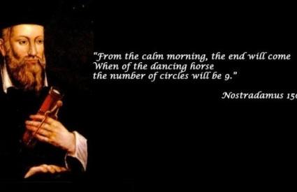 Zamislite užasnutog Nostradamusa s vizijom Gangnam style videa :)