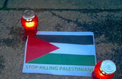 Prosvjed pred izraelskim veleposlanstvom