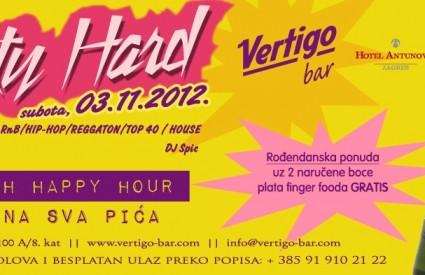 Party Hard u Vertigo baru