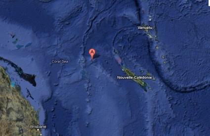 Sandy Island na Google Earthu