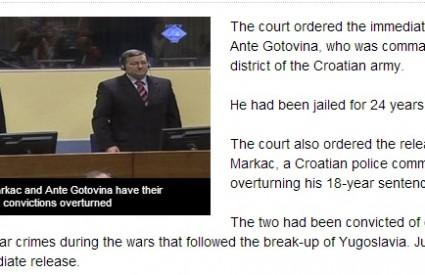 Strani su mediji iscrpno izvijestili o presudi