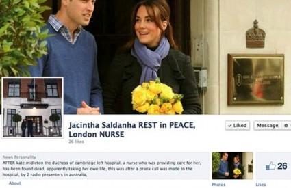 Jacintha Saldanha ima i memorijalnu stranicu na Facebooku
