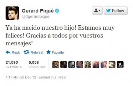 Pique se odmah pohvalio na Twitteru