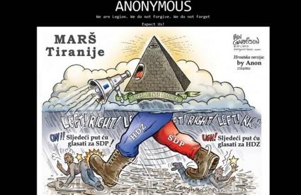 Evo što Anonymousi misle o političarima :)