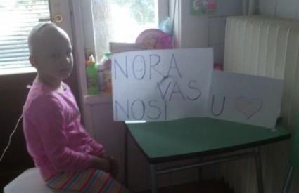 Nora se zahvalila svim ljudima dobra srca