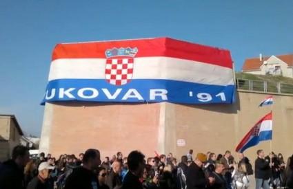 Prosvjed je napunio Vukovar