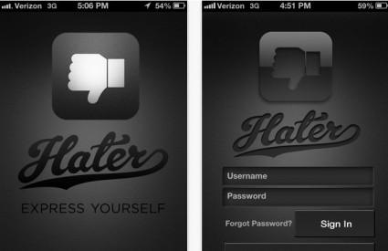 Hater - aplikacija za stvari koje ne volite