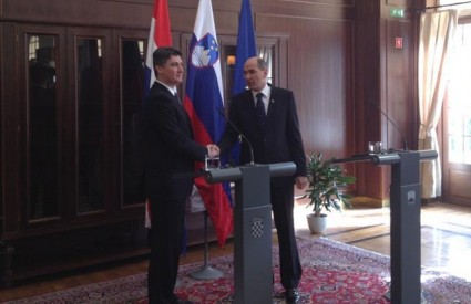 Milanović i Janša nakon potpisa Memoranduma