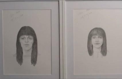 Lijeva slika pokazuje kako se žena vidi sama, desna kako je vide drugi