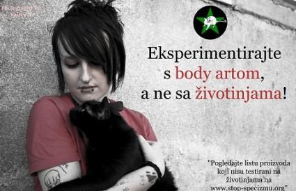 Eksperimentirajte s body artom, ne na životinjama