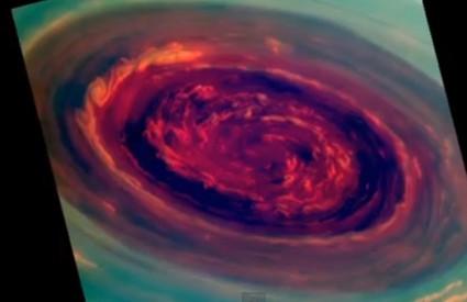 Čudovišna oluja na sjevernom polu Saturna