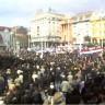 Desetine tisuća na Trgu bana Jelačića protiv ćirilice