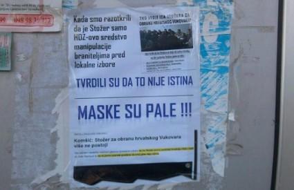 Plakati Građanske akcije u Vukovaru