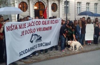 Podrška turskim prosvjednicima