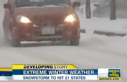 Snježna oluja paralizirala New York