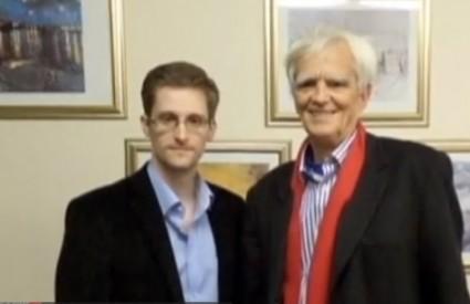 Snowden i predstavnik njemačkih Zelenih Stroebele