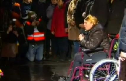 Julija Timošenko na Majdanu je dočekana ovacijama