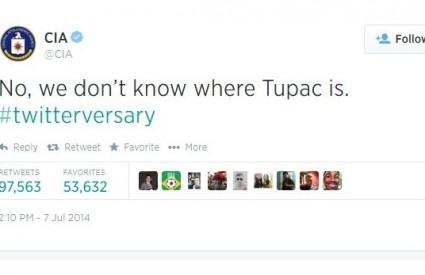 CIA tvrdi da ne zna gdje je Tupac