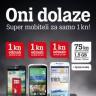 Uz Tele2 podebljanu Mix 75 tarifu uzmi pametni telefon za 1 kunu