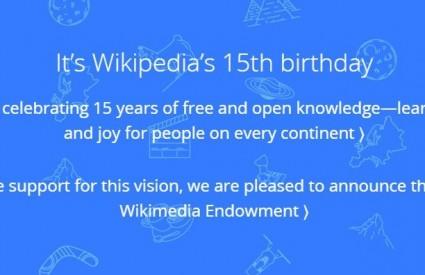 Čak 15. godišnjica Wikipedie