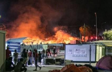 Izbjeglički kamp na Lezbosu progutala je vatra