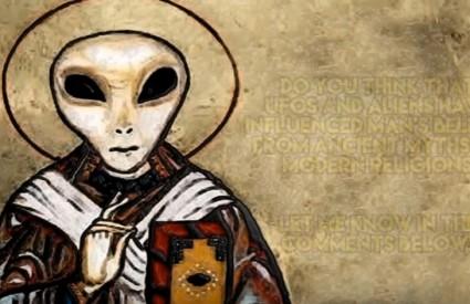 Na starim slikama svemiraca kao u priči ...