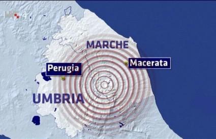 Snažni potresi uzdrmali Italiju