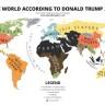 Karta svijeta po Donaldu Trumpu