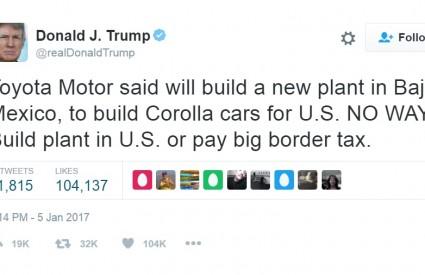 Trump rastura na Twitteru