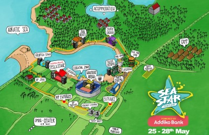 Sea Star festivalska karta
