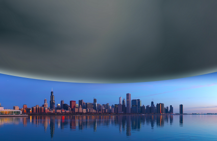 Neutronska zvijezda u usporedbi s Chicagom