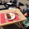 Preko leševa do hrane na tanjuru  - performans na Trgu