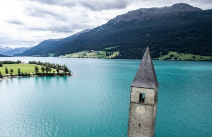 Graun Church Tower, Lake Reschen, Italy