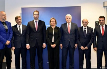 Federica Mogherini s čelnicima Zapadnog Balkana
