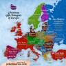 Djed Božićnjak na svim europskim jezicima