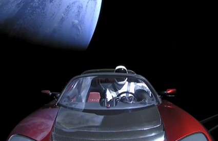 Tesla Roadster goes to space :)