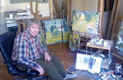 Munir Vejzović u atelieru