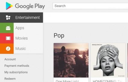Google Play se čisti...