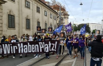 Prosvjed pred Veleposlanstvom RH u Beču