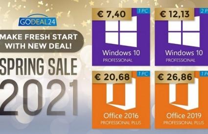 Proljetna prodaja softverskih ključeva