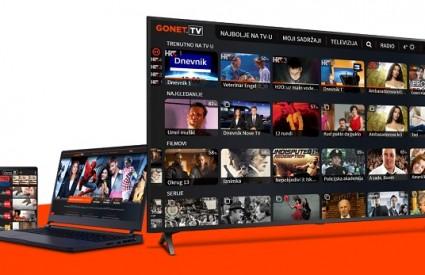 GONET.TV nova je platforma za gledanje TV programa u Hrvatskoj